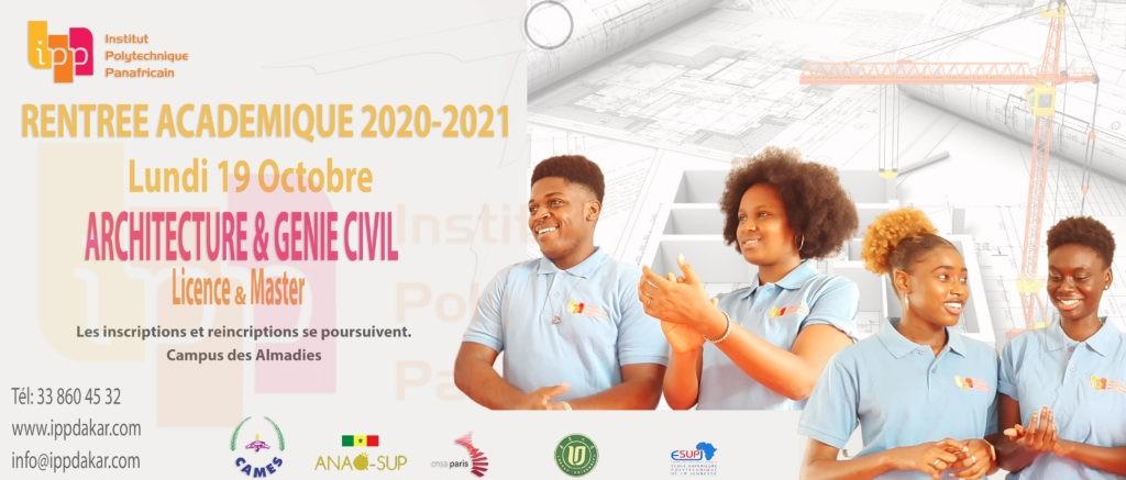 Rentrée académique 2020-2021 :  20 octobre 2020