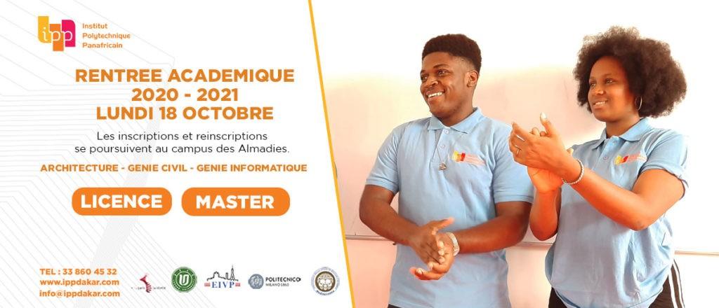 Rentrée académique 2021-2022 :  18 octobre 2021
